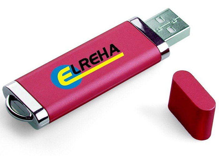 a red Elreha USB Drive