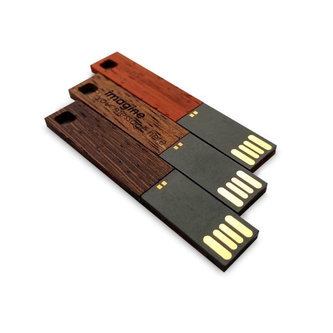 3 cool flat thin USB Drives